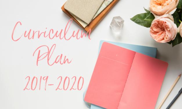 2019-2020 Curriculum Planning